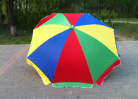 Multicolor 40 Inch Outdoor Parasol Umbrella With Customized Printing Logo