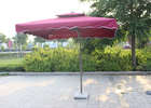 Polyester Red Dyed Extra Large Patio Umbrella , Backyard Square Sun Umbrella Parasol