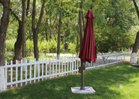 Large Rotating Red Patio Roma Cantilever Umbrella With 250g Polyester Fabric
