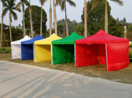 China factory suppliy colourful 3x3m gazebo canopy tent with sidewalls in low price.