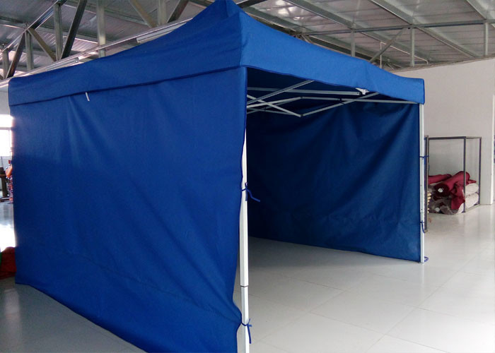 Logo Printed 3m X 4.5m Pop Up Canopy Tent With Sidewalls , Pop Up Market Gazebo Hire