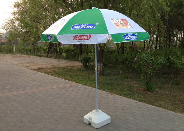 Digital Printed Outdoor Umbrellas Parasols Wind Resistant With 210D Oxford Fabric