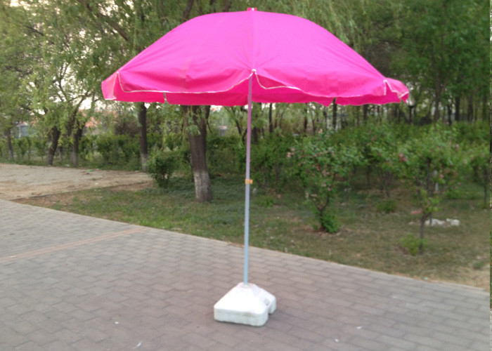 Rose Pink Outdoor Parasol Umbrella , Promotion Advertising Sun Garden Parasol