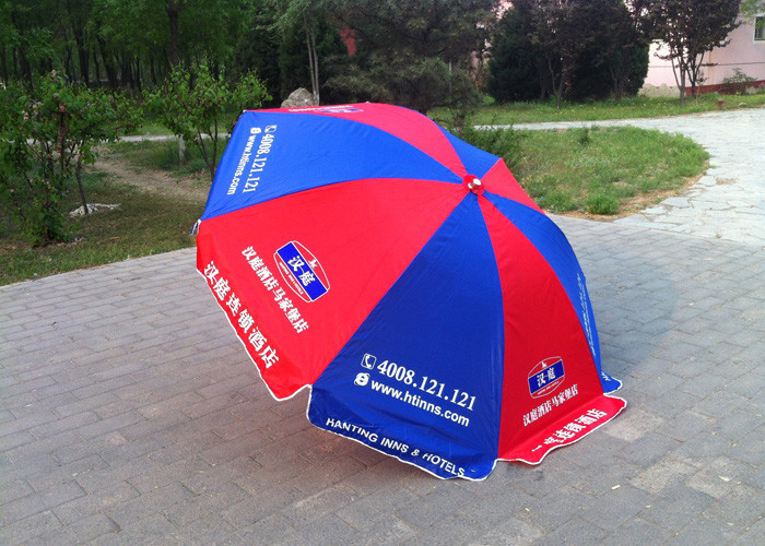 Custom Design Outdoor Parasol Umbrella Single Layer For Commercial Advertising