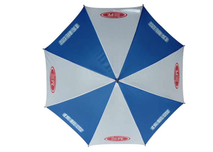 Custom Logo Manual Open Umbrella , Walking Stick Umbrella For Windy Weather