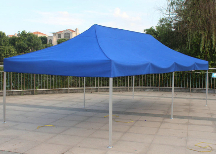 Blue 3x6 Pop Up Gazebo Canopy Screen Printing Easy Carry For Market Advertising